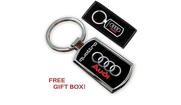 AUTOGIFTS Llavero con Logotipo para Audi Quattro: Amazon.es ...
