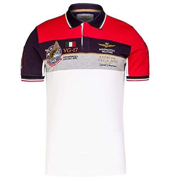 Polo Aeronautica Militare PO1351 - Color - ROJO, Talla - M: Amazon ...