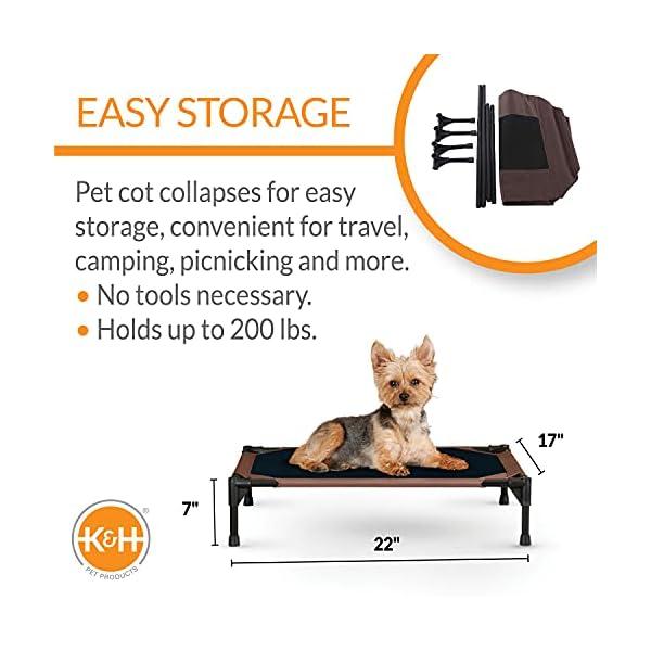 51TnOCo%2B2AS KH 771615 Original Pet Cot - erhöhtes Haustierbett für Hunde und Katzen - Mittel, M
