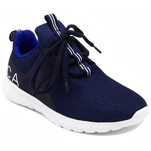 Nautica Kids Boys Sneaker Comfortable Running Shoes-Kappil 2 Youth-Navy-4 (Nautica Padding)