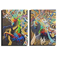 CUUYQ Oil Paintings on Canvas Wall art, 100% Hand Paintings horse Abstract Paintings art Paintings Contemporary Oil Painting Wall Decoration,2pc_40x60cm