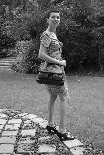 modèle bandoulière Sac cuir Gd à Avril Modèle Main Bleu femme Fonce 8UqtU