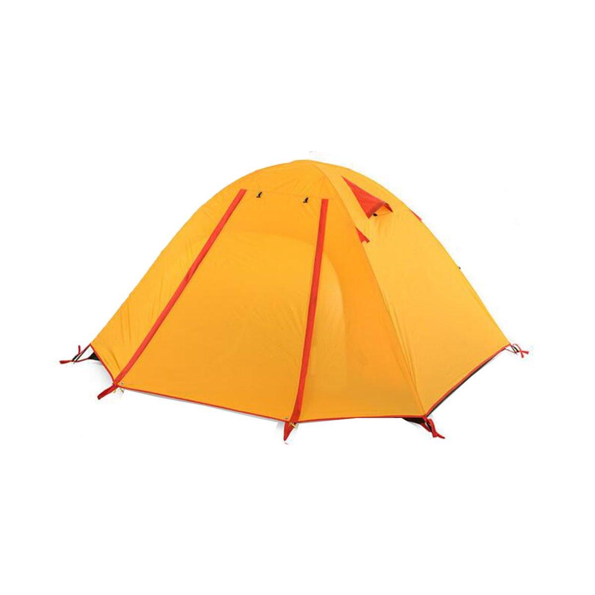 TZQ Set Doppel- Anti-regen Campingzelte,Gelb