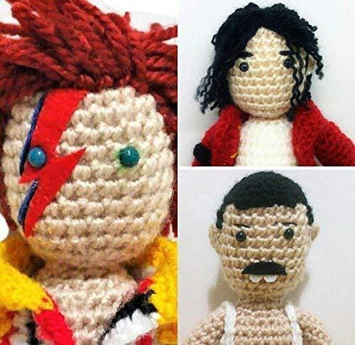 3 muñecos Mercury, Jackson y Bowie amigurumi: Amazon.es: Handmade