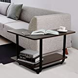 Lifewit 2-tier Couch Side End Table, L-shape Huge