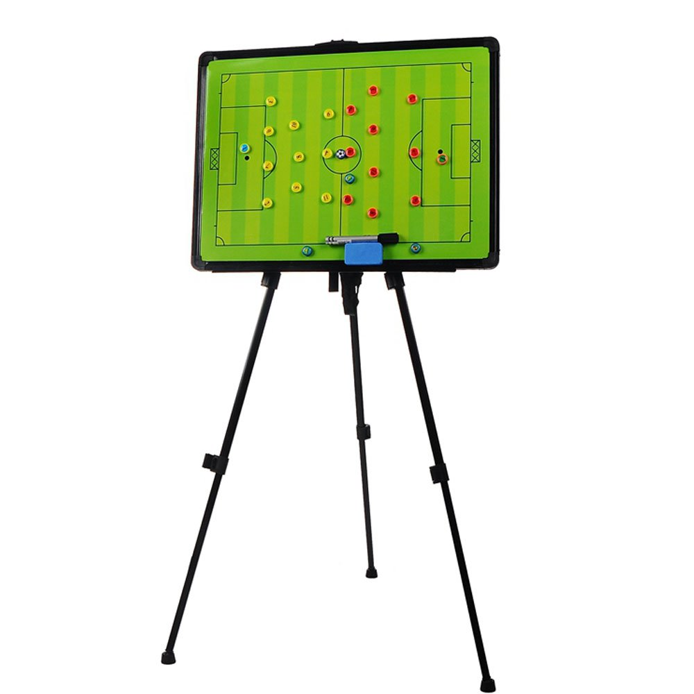 Odowalker Soccer Football Tactic Coaching Board Strategy Game Plan Whiteboard Dry Erase Marker Board Training Equipment - Large Size with Tripod Stand and Carrying Tote by Odowalker