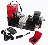 Signswise High Quality Motorized Mini Metal Working Lathe Machine DIY Tool Metal Woodworking for Hobby Sience Education Modelmaking