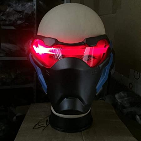 LXIANGP Overwatch OW Soldier 76 Weapon Cosplay Luminous Mask Prop Light-up Halloween Fiesta de Navidad: Amazon.es: Jardín