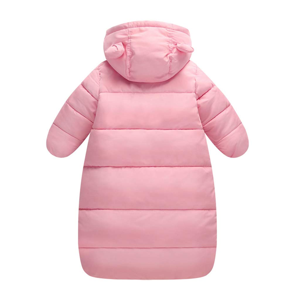 Saco de dormir para beb/és 3 Tog Reci/én Nacido Mangas Largas con Capucha Mameluco Invierno Frente de Cremallera 0-3 Meses,Azul