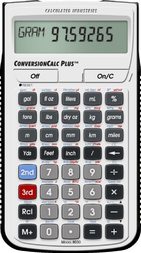 - Calculated Industries 8030 ConversionCalc Plus Ultimate Professional Conversion Calculator