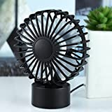 USB Mini Table Desk Computer Fan Handheld Personal Air Cooler Electric Cooling Quiet Fans with USB Powered Portable for PC Laptop Ultrabook Macbook Home Office Travel Bedside Desktop Small Silent Fan