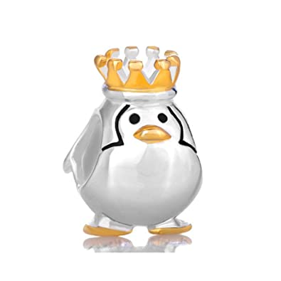 934fc7131 Sterling Silver Crown Penguin King Animal Charm Sale Cheap Fit Pandora  Charm Bracelets: Amazon.co.uk: Jewellery