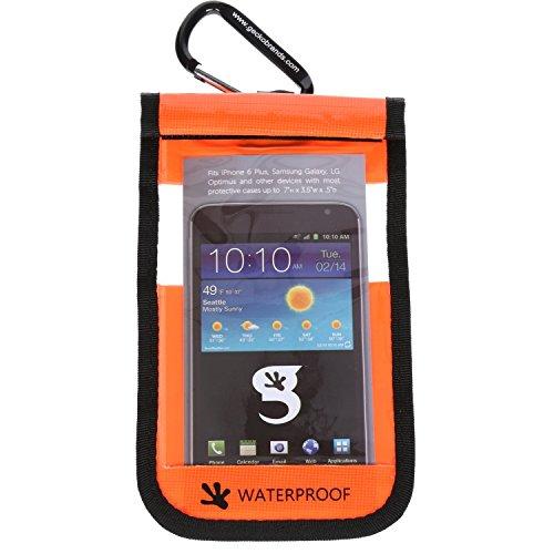 Waterproof iPhone 6 Plus/Galaxy/Large Mobile Phone Dry Case - (Neon - Iphone Plus 6 Neon Orange Case