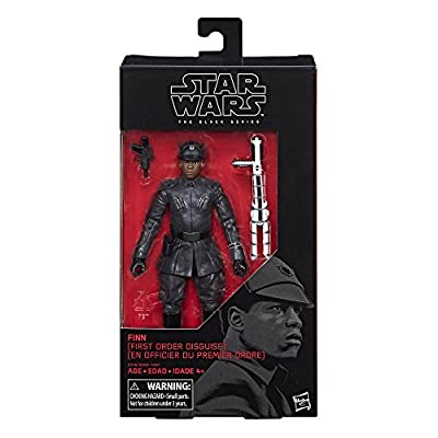 Star Wars The Black Series Episode 8 Finn (First Order Disguise), 6-inch by Hasbro