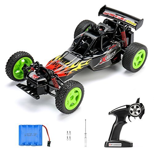 SANTSUN RC Cars Remote Control Cars 1:16 Scale High Speed Racing Buggy 2.4GHz 50M 2WD Fast Rock Off-Road Crawler Truck Radio Controlled Monster Truck Electric Vehicle with Rechargeable Battery