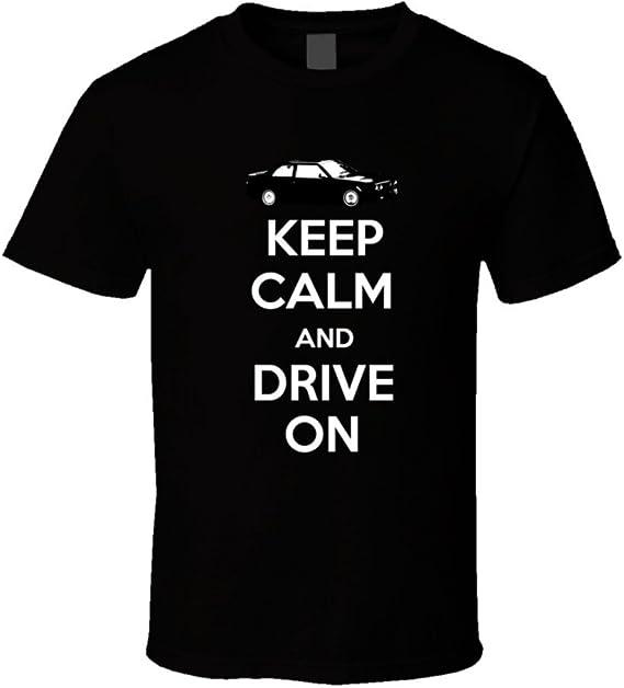 Amazon.com: 1988 Maserati 222 E 2 8 V6 Bi Turbo Keep Calm Drive on Car Lover t Shirt Men: Clothing