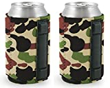 Magnetic Neoprene Collapsible Can Coolie (2, Camo)