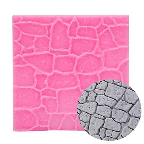 Creative Stone Cobble Grain Stripe Fondant Soap Cake Mold Food Grade Silicone Texture Mat Fondant Moulds Cake Decorating Tools
