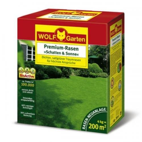 Wolf LP 200 Premium-Rasen »Schatten & Sonne« 200qm 4kg, Rasensamen, Rasensaat