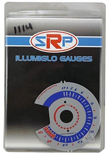 (Street Racer Parts SRP1114 Silver Reverse Style Illumiglo Gauge)