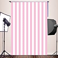 HUAYI Pink White Stripe Background Silk Photography Backdrops Newborn Photo Studio Photo Props 5x7ft YJ-234