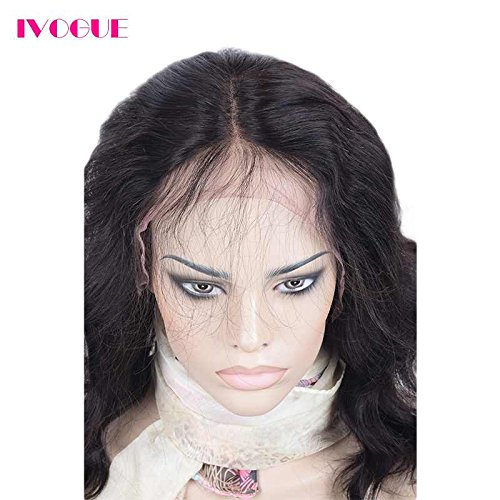 Pre Plucked 13X6inch Deep Part Lace Front Human Hair Wigs With Baby Hair For Black Women Malaysian Soft Virgin Hair (14inch) by iVogue Hair (Image #2)