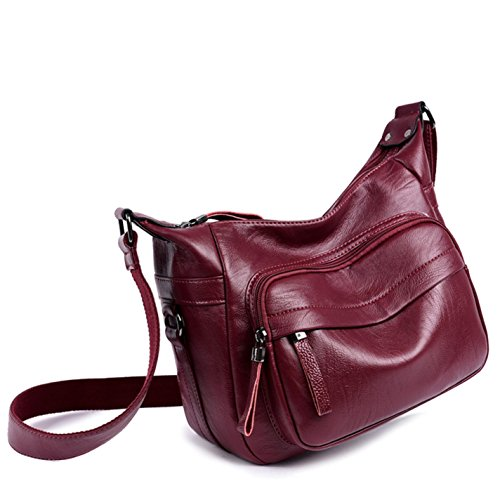 Women Leather Handbags Fashion Soft Women Silver Shoulder Messenger Bag qqS0Xw