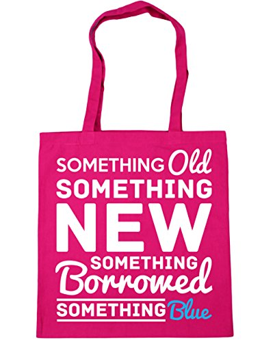 Shopping Bag blue something old 10 Fuchsia litres something 42cm borrowed x38cm HippoWarehouse Gym Beach Something Tote something new CfnBx7
