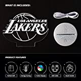 Ikavis 3D LED Night Light Lakers Logo Flat Acrylic