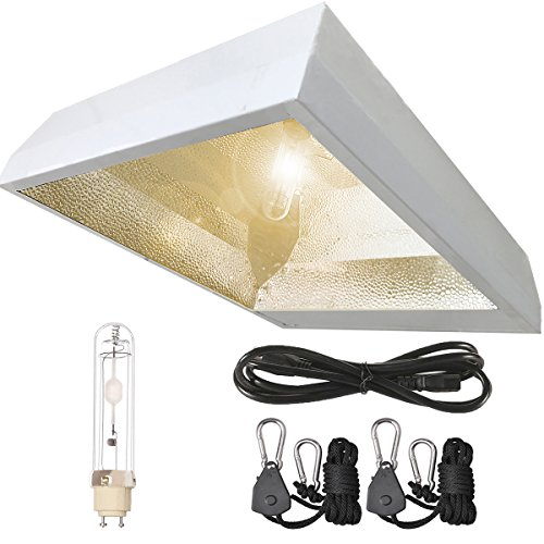 TopoLite 315W CMH CDM Grow Light Fixture Kit Deep Reflector W/3100K Bulb & 120V Plug 120/240V Grow Light for Indoor Pants Growing (Vertical CMH 315W(3100K)) - Dimm Reflector