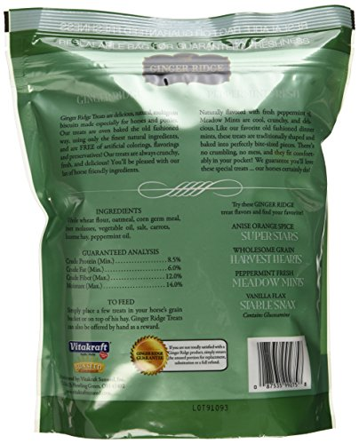 Image of Ginger Ridge Meadow Mints Horse Treats, Peppermint Fresh, 1.75 Lb