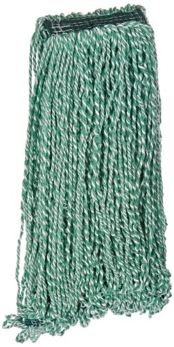 Rubbermaid Commercial FGA81306GR00 Web Foot Microfiber String Mop, 1-inch Size, Green