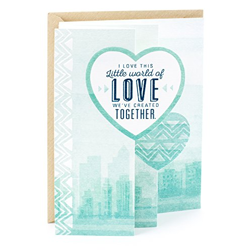 Hallmark Mahogany Romantic Father's Day Card for Husband or Boyfriend (Little World of Love) (Best Dad In The World Card)