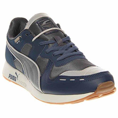 Dark Denim Footwear (PUMA Men's Rs100 AW Classic Sneaker,Dark Denim Silver/Turbulence,11.5 M US)