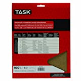 Task Tools PA15100 9-Inch by 11-Inch Premium Aluminum Oxide Sandpaper, 100 Grit, 5-Pack
