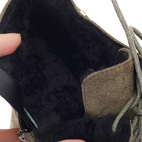 Seitlichem Frauen Stiefeletten Schnürschuhe Heels Boots Wildleder Abend Winter Stiletto Reißverschluss Spitz Party Kleid Futter Black Fleece Prom High ErYxvAwr4q
