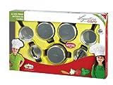 Faro - 2765 - Jeu D'imitation - Coffret Casseroles De Cuisine En Inox Lagostina Pour Enfant - 58,5 X 9 X 37 Cm