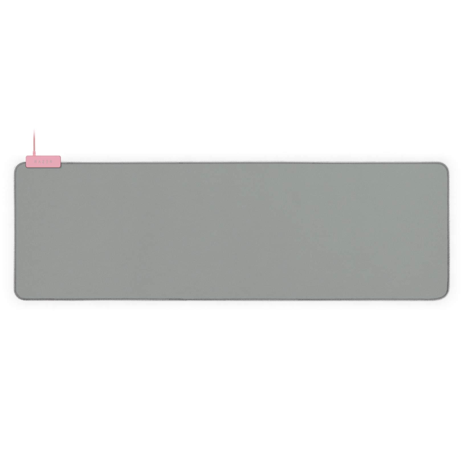 Razer Goliathus Extended Chroma Gaming Mouse Pad: Customizable Chroma RGB Lighting - Soft, Cloth Material - Balanced Control & Speed - Non-Slip Rubber Base - Quartz Pink