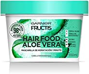 Garnier Fructis H5537200 Mascarilla para Cabello Natural Vegana Anti Frizz con Fructis Hair Food, Verde, 350 ml