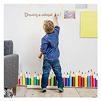 Calcomanías de pared Dooboe para el salón de clases: crayones de colores Vinilos decorativos de pared para niños - Murales de pared removibles para juegos, palos grandes y cáscara