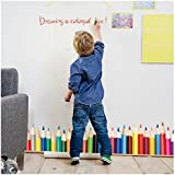 Wall Decals For Classroom - Colorful Crayons Vinyl Wall Stickers for Kids by Dooboe