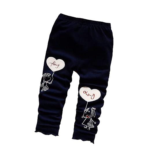 5167620c1 Baby Girls Leggings Children Cotton Spring Legging Pants Kids Toddler  Trousers (Black, 3T)