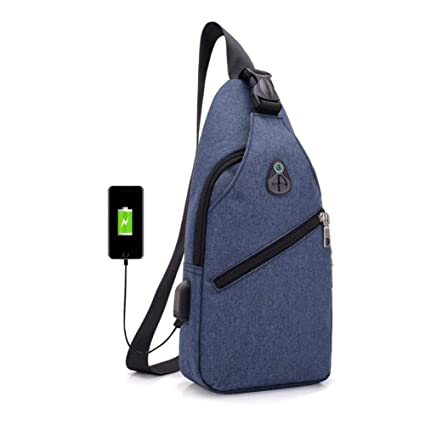 215e864b89f0 Image Unavailable. Image not available for. Color  Oxford Men Chest Pack  Single Shoulder Strap Back Bag Crossbody Bags for Women ...