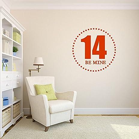 Amazoncom Sweet Lucky Number Custom Wall Decal Decal Nursery - Custom vinyl wall decals circles
