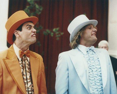 Jim Carrey and Jeff Daniels in Dumb and Dumber To in wedding suits 16x20 (Jim Carrey Dumb And Dumber Suit)