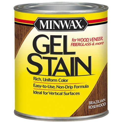 Rosewood Wood Stain - Minwax 26080 1/2 Pint Gel Stain Interior Wood, Brazilian Rosewood by Minwax