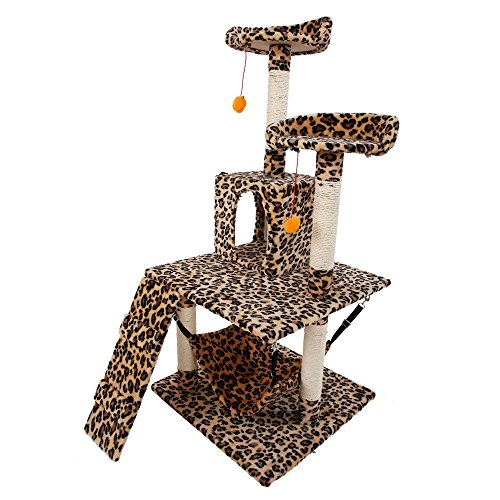 New Cat Tree Tower Condo Furniture Scratching Post Pet Kitty Play House - M13-51'' + FREE E-Book by Eight24hours