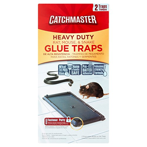 Catchmaster 100% Safe Heavy Duty Baited Rat Glue Traps Baited Glue Traps