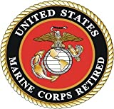 united states marine corps decal - United States Marine Corps Retired Version 2 Decal 4 inch