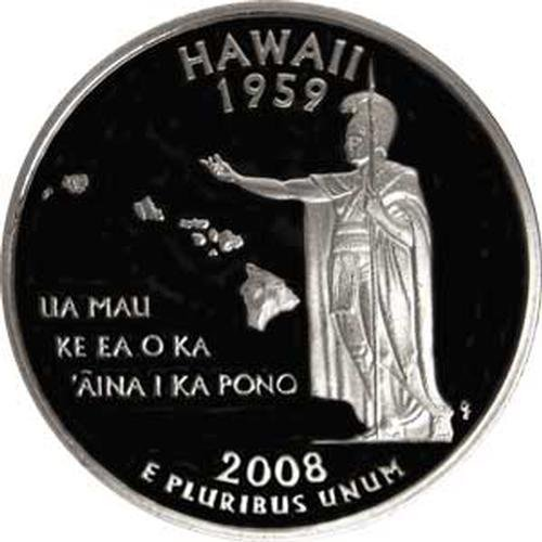 2008 Hawaii S Gem Proof State Quarter US - State Gem Hawaii
